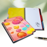 Quality 3d Lenticular Printing Notebook For Students Custom Writing 3d Lenticular Notebook For Kids for sale