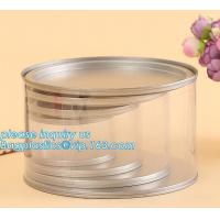 Quality PET Jar 85mm neck size food grade clear PET plastic Can screw type with aluminium easy open endsPackaging plastic can 25 for sale