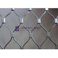 Quality Flexible Stainless Steel Wire Rope Mesh Balustrades Mesh Bird Netting Aviary Mesh for sale