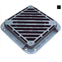 China Captive Hinged Double Triangle Pattern Heavy Duty 40 Tonne Load Rating Ductile Iron Gully Grating on sale
