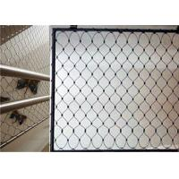 Quality High Strength Balcony Safety Net , Stainless Steel X Tend Mesh For Handrail for sale