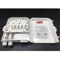 Quality ABS Material Fiber Optic Termination Box White Or Black Color 8 Outputs for sale