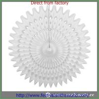 Best white paper fans home decoration wholesale