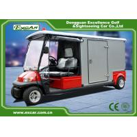 Quality RED 48V 2 seater Electric Ambulance Car / Club Emergency Golf Carts for sale