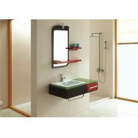 Best Country Glass Countertops Bathroom Vanity Cabinets With Mirror And Stainless Handle wholesale