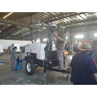 Quality Q235 360 Rotation 16KW Mobile Light Tower For Construction for sale