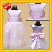 China CUSTOM Made Cheap pink Bow Ankle Length Ball Gown Christmas Pageant Dresses on sale