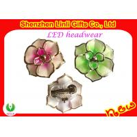 China Flower Shape Plastic LED Flashing Hair Accessories Toys / Hair Decoration for Promotional on sale