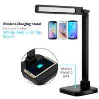 Buy cheap 2016 hot selling product AC110-240V ABS lamp table led QI wireless charge with USB four CCT five level brightness auto o from wholesalers