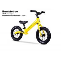 """Quality 12""""  High Quality Aluminum Kids Balance Bike No Pedal Running Bike With Inflatable Cartridge Wheelsets Yellow for sale"""