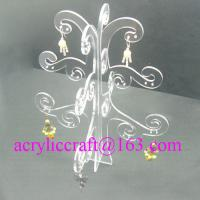 China Fashion plexiglass jewelry display stand, unique acrylic display rack for earrings on sale