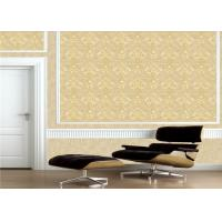 Quality Classic Embossed Damask Wallpaper , Vintage Embossed Vinyl Wallpaper for sale