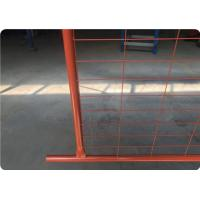 orange color temp fence panel wire and frame welding