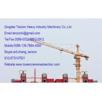 China self Climbing construction tower crane With 60m Jib Length on sale