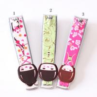 Quality Novelty Design Printed Promotional Nail Clippers Key Rings For Personalization for sale