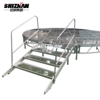 Quality ISO9001 Certificate Aluminium Tempered Glass Stage For Wedding for sale