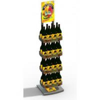 Buy cheap Advertising 4 Layer Light Duty Beverage Display Racks With Three Sided from wholesalers