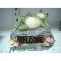 Quality Home Acrylic Epoxy Resin Lying Frog Sculptures and Statues for Garden Ornaments for sale