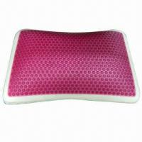 China Gel Pillow/Red Circle Gel Top Layer Memory Foam Pillow on sale