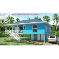 Quality Fireproof Two-Story Prefab Beach Bungalow , Blue Home Beach Bungalows for sale