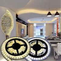 China 12V Non-waterproof 5050 LED Strip Light for Home Decoration 5M 300 LEDs Warm/Cool White on sale