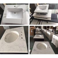 Quality Quartz in carrara white color bathroom vanity counter top white quartz kitchen top quartz with cheap price for sale