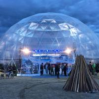 Quality Clear Geodesic Dome Tent With Luxury And Popular Light Show For Celebration for sale