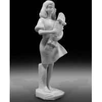 Quality Indoor art exhibition marble sculptures beautiful girl stone statue,stone carving supplier for sale
