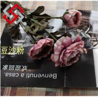 Buy cheap Artificial Floral Tea Rose Silk Flower for Home Office Decor and Bonsai from wholesalers