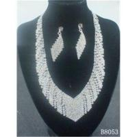 Quality American Standard Diamond Crystal Necklace and Earring Set Designs for Wedding for sale