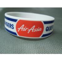 China Trade Show Promotional Items Giveaways Embossed Silicone Wristband Bracelet on sale