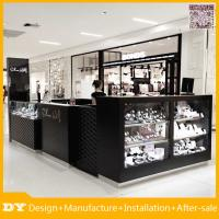 China Material black painting mdf glass jewelry display case and jewelry kiosk for sale on sale
