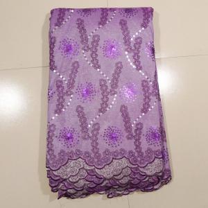 China Purple Swiss Metallic Net Lace Fabric For Window Curtain on sale