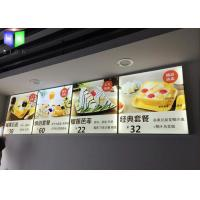 Buy cheap Aluminum Indoor LED Menu Board Lightbox Energy Saving Two Years Warranty from wholesalers