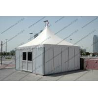 Quality Temporary High Peak Tents Glass Door , Outdoor Hajj Tents As Catering / Stay Place for sale