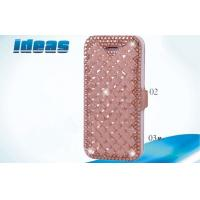 Quality Flip Apple Iphone Leather Cases Yellow Diamond iphone4 / 5 / 6 Leather Case for sale
