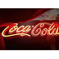 China Vintage LED Custom Outdoor Neon Signs Low Voltage For Coca Cola LOGO Signage on sale