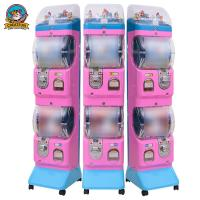 ABS Commercial Gumball Machine , Sweet Vending Machine 300*400*1400mm