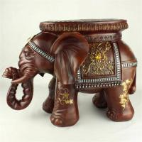 Cheap Environmental Resin Elephant Stool Resin Elephant Crafts Home Decoration New Year Gift  (XH010-2) for sale