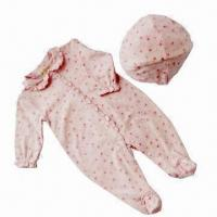 Quality Long-sleeved Baby Romper with Hat for sale