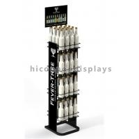 Best Liquor Shop Metal Wine Display Stand / Shelves Freestanding With Advertising Signage wholesale