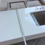 Quality High Hardness White Quartz Kitchen Worktops / Sparkle Quartz Countertops for sale