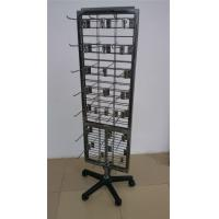 China Metal Wire Grid Display Racks , Flooring Double Sided Display Stand Shelving on sale
