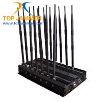 Quality 14 Antennas 35w Mobile Signal Jammer Blocker GSM DCS 3G 4G Wimax Wifi GPS Camera UHF VHF for sale