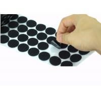 China Die Cut Back Adhesive Hook And Loop Dots 100mm Velcro Coins Bulk on sale