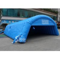 China Blue Long Inflatable Tunnel Tent With Double N Quadruple Stitching on sale