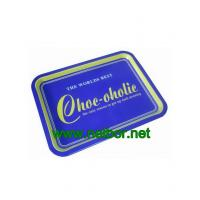 Quality rectangular metal tin serving tray for sale