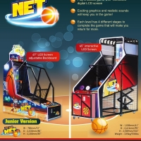 Quality 65 Inch LCD Arcade Street Basketball Shooting Game Machine for sale