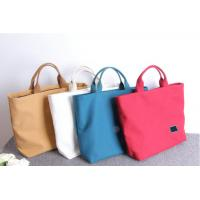 Quality Multicolored Monogrammed Canvas Tote Bags Recyclable With Customized Logo for sale