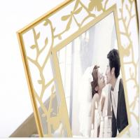Quality Home / Garden Decoration Brass And Glass Picture Frame Compact Lightweight for sale